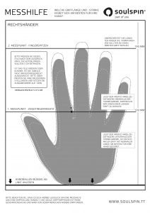 Measuring aid printable to check which handle length and thickness fits your hand best