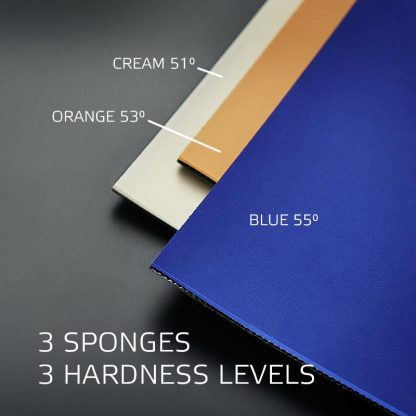 3 sponges in different degrees of hardness available for the offensive table tennis rubbers P16 and P16ST