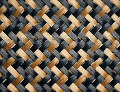 소울스핀 탁구 블레이드에 함유된 합성섬유 제트 카본 확대 사진