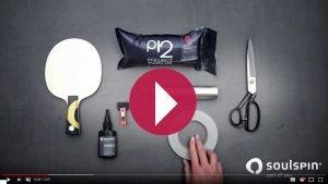 소울스핀과 탁구 러버 제대로 붙이기 영상 설명 비디오 튜토리얼