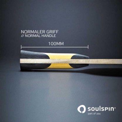 소울스핀의 탁구 블레이드 루츠 2 미디엄 스피드의 그립 형태 측면